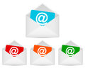 Envelopes with email symbol Royalty Free Stock Photo