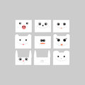 Envelopes with faces of animals vector illustration Royalty Free Stock Photo