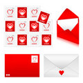 Envelopes Set 2 - Love Stock Photo