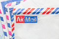 Envelopes stack of traditional airmail Stock Photography