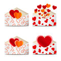 Envelopes to Valentine's day. Royalty Free Stock Photography