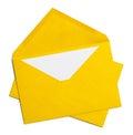 Envelopes Yellow Open