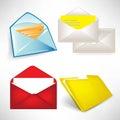 Envelops and folder set Royalty Free Stock Photo