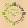 Environment day on craft