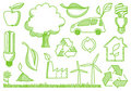 Environment doodles icons Stock Photos
