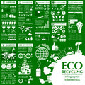 Environment ecology infographic elements environmental risks ecosystem template vector illustration Royalty Free Stock Photography