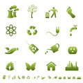 Environment and ecology symbols Royalty Free Stock Image