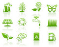 Environment green icon set Stock Images