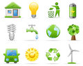Environment icon set Royalty Free Stock Images