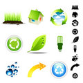 Environment Icon Set Royalty Free Stock Photography