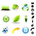 Environment Icon Set Royalty Free Stock Photography