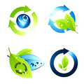 Environment Icon Set Stock Photography