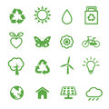 Environment icons ecology green concept Royalty Free Stock Photos