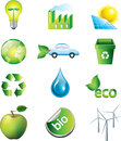Environment icons set and ecology Royalty Free Stock Photo