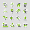 Environment Icons Sticker Set Royalty Free Stock Photo