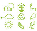 Environment protection icons Stock Photos