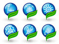 Environment protection icons Royalty Free Stock Image