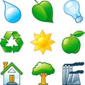 Environment set vector of computer shine icons for Royalty Free Stock Photo