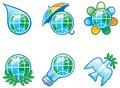 Environment set vector of computer shine icons for Royalty Free Stock Image