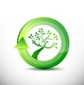 Environment tree eco friendly concept illustration design Stock Image