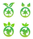 Environmental conservation symbols Stock Image