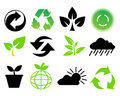 Environmental conservation symbols Royalty Free Stock Photos