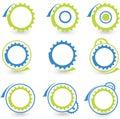 Environmental gear graphic design elements- vector Stock Photos