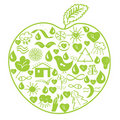 Environmental green apple Royalty Free Stock Photos