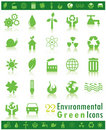 Environmental Green Icons Stock Photo
