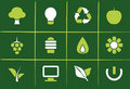 Environmental Green Icons and Graphics Stock Images