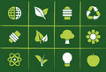 Environmental Green Icons and Graphics Royalty Free Stock Photography