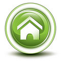 Environmental home button Royalty Free Stock Photo