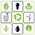 Environmental icon set Royalty Free Stock Images