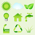 Environmental icons this is file of eps format Royalty Free Stock Photo