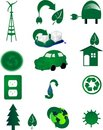 Environmental icons for Go green.. in the world..