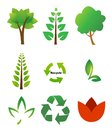 Environmental icons icon set on white Royalty Free Stock Image