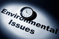 Environmental issues clock and word of for background Stock Images