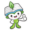 Environmental mascot the hand best gesture nature fairy charact character design series Stock Images