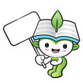 The environmental mascot holding a board nature fairy character design series Stock Image