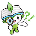 Environmental mascot look through a magnifying glass nature fai fairy character design series Royalty Free Stock Image