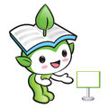 Environmental mascot suggests the direction nature fairy charac character design series Stock Photos