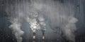 Environmental problems, greenhouse effect. Smoking chimneys