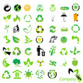 Environmental recycling icons Stock Photo