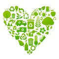 Environmental recycling icons vector set of Royalty Free Stock Photography