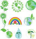 Environmental symbols Royalty Free Stock Image