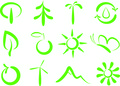 Environmental symbols Royalty Free Stock Photos