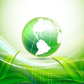 Environmental vector concept with globe eps Royalty Free Stock Photo