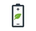 Environmentally Friendly Battery Logo