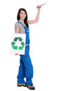 Environmentally friendly painter Stock Photo