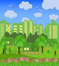 Environmentally symbols of urban lifestyles Royalty Free Stock Photo